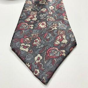 Vtg Haggar Floral Pattern Tie